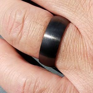 Other - Mens black titanium ring, mens wedding band